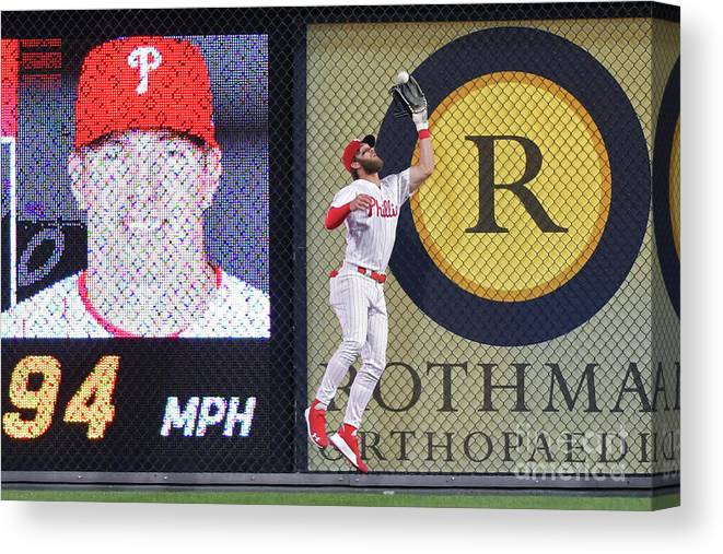 People Canvas Print featuring the photograph Bryce Harper by Drew Hallowell