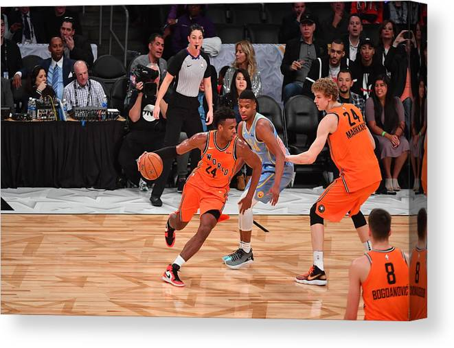 Event Canvas Print featuring the photograph Buddy Hield by Jesse D. Garrabrant