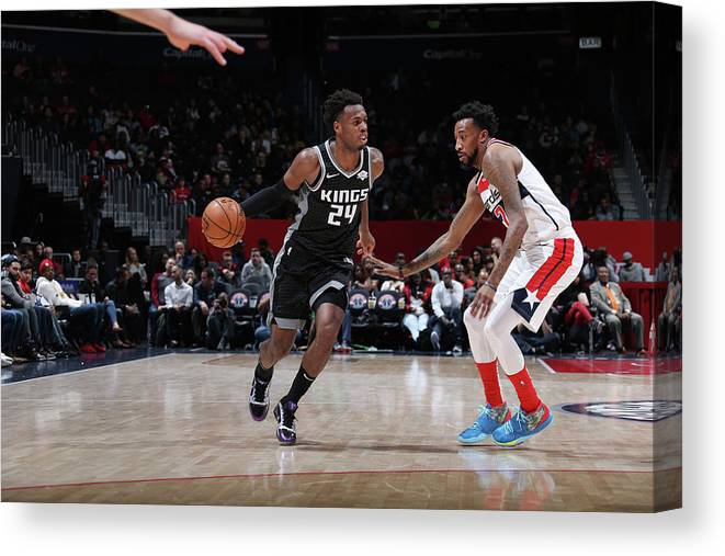 Nba Pro Basketball Canvas Print featuring the photograph Buddy Hield by Stephen Gosling
