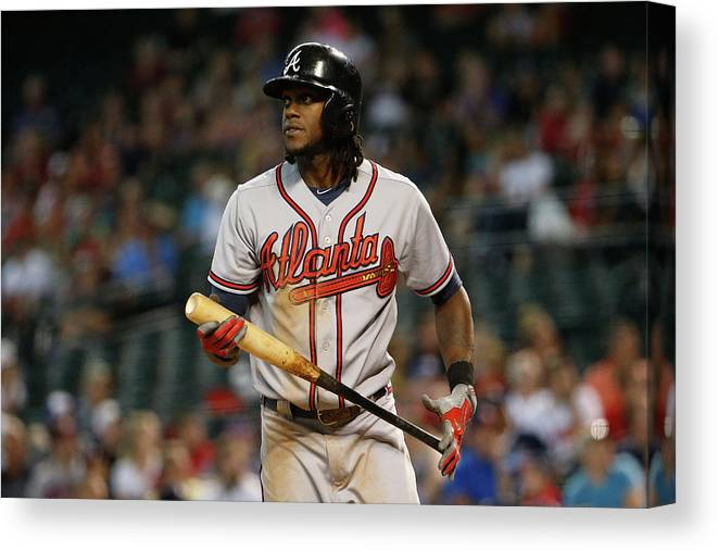 Three Quarter Length Canvas Print featuring the photograph Cameron Maybin by Christian Petersen