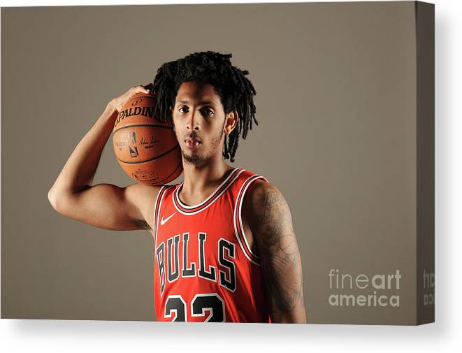 Media Day Canvas Print featuring the photograph Cameron Payne by Randy Belice
