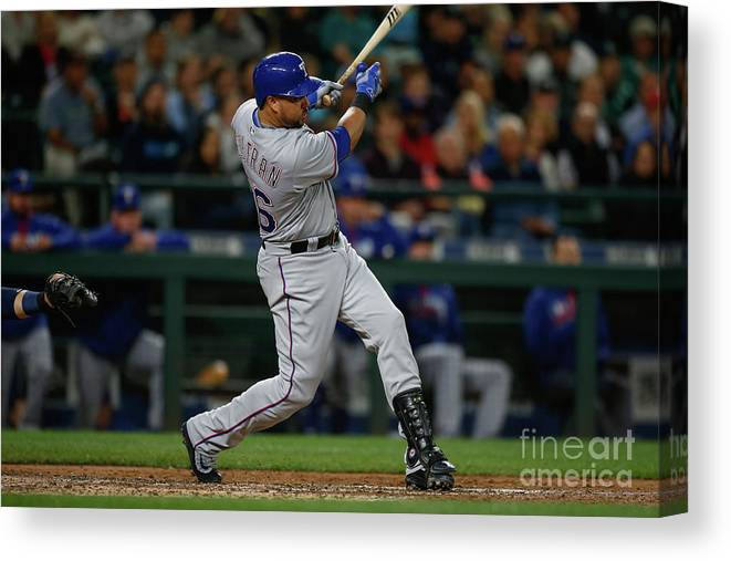 Second Inning Canvas Print featuring the photograph Carlos Beltran by Otto Greule Jr