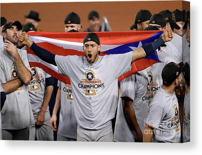 People Canvas Print featuring the photograph Carlos Correa by Kevork Djansezian