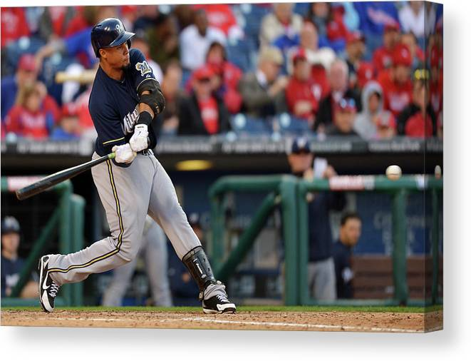 Opening Canvas Print featuring the photograph Carlos Gomez by Drew Hallowell