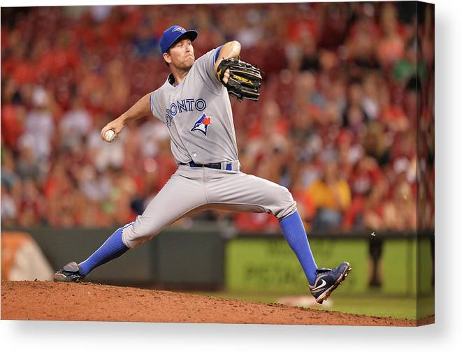 Great American Ball Park Canvas Print featuring the photograph Casey Janssen by Jamie Sabau