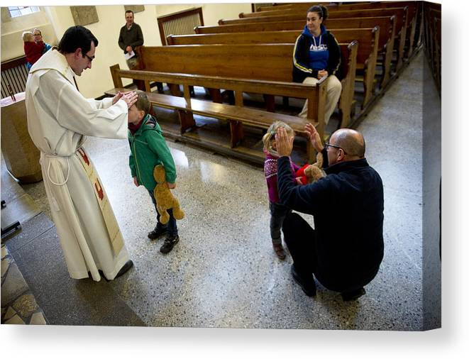 Pets Canvas Print featuring the photograph Catholic Church Hosts Mass For House Pets by Target Presse Agentur Gmbh