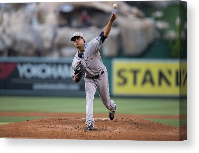 Second Inning Canvas Print featuring the photograph Cesar Ramos by Paul Spinelli