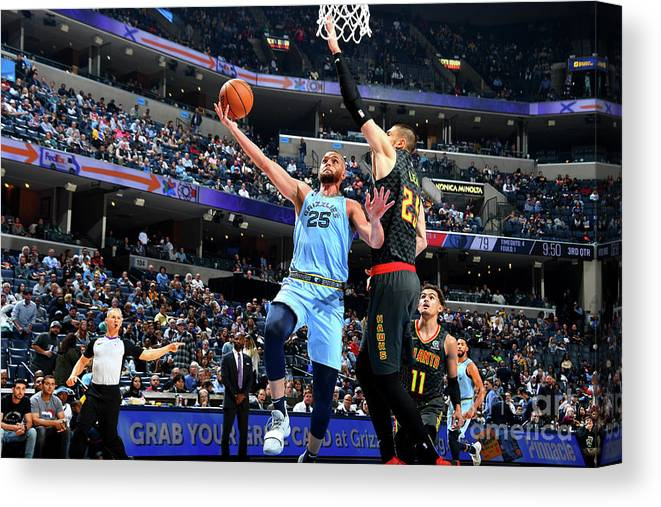 Nba Pro Basketball Canvas Print featuring the photograph Chandler Parsons by Scott Cunningham