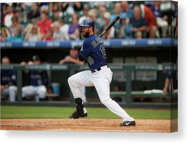 National League Baseball Canvas Print featuring the photograph Charlie Blackmon by Dustin Bradford