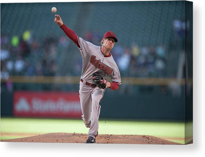 Baseball Pitcher Canvas Print featuring the photograph Chase Anderson by Dustin Bradford