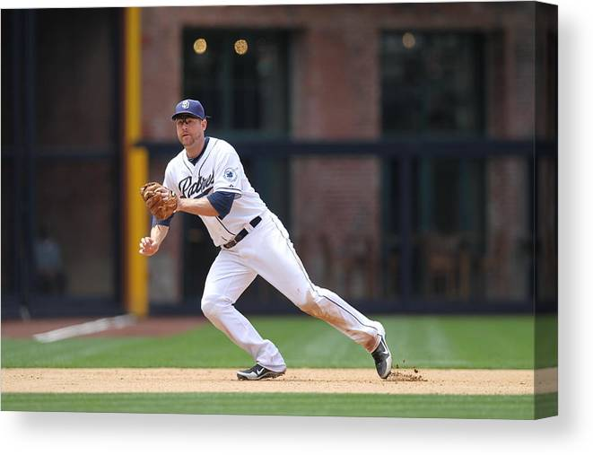 Ball Canvas Print featuring the photograph Chase Headley by Rob Leiter