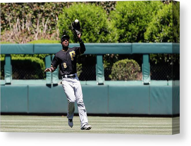 People Canvas Print featuring the photograph Chase Utley and Starling Marte by Brian Garfinkel