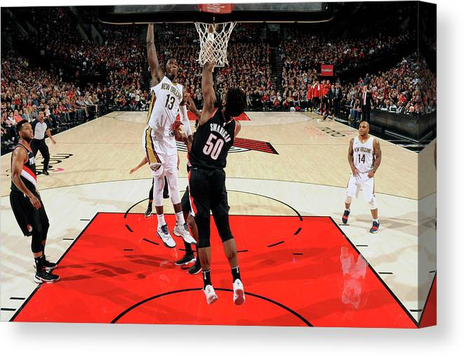Nba Pro Basketball Canvas Print featuring the photograph Cheick Diallo by Cameron Browne