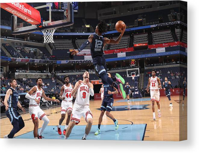 Nba Pro Basketball Canvas Print featuring the photograph Chicago Bulls v Memphis Grizzlies by Joe Murphy