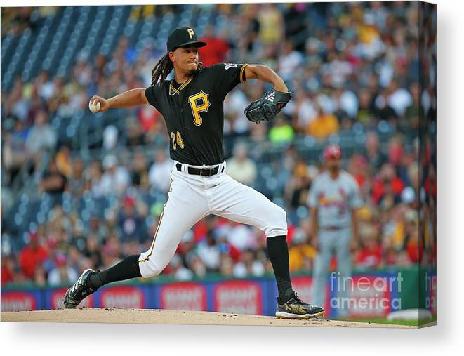 People Canvas Print featuring the photograph Chris Archer by Justin K. Aller
