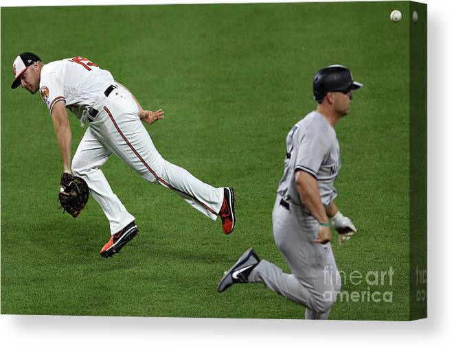 People Canvas Print featuring the photograph Chris Davis and Matt Holliday by Patrick Smith