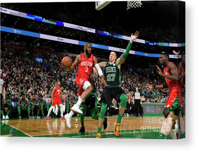 Nba Pro Basketball Canvas Print featuring the photograph Chris Paul by Brian Babineau