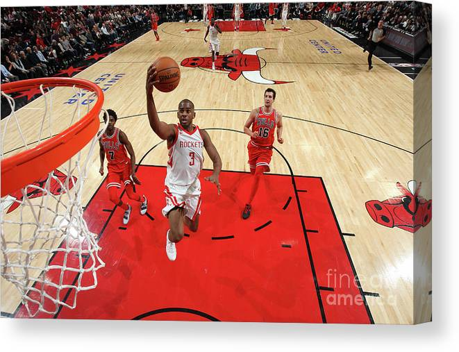 Nba Pro Basketball Canvas Print featuring the photograph Chris Paul by Gary Dineen