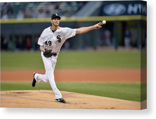 American League Baseball Canvas Print featuring the photograph Chris Sale by Brian Kersey