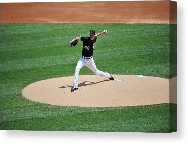 American League Baseball Canvas Print featuring the photograph Chris Sale by David Banks