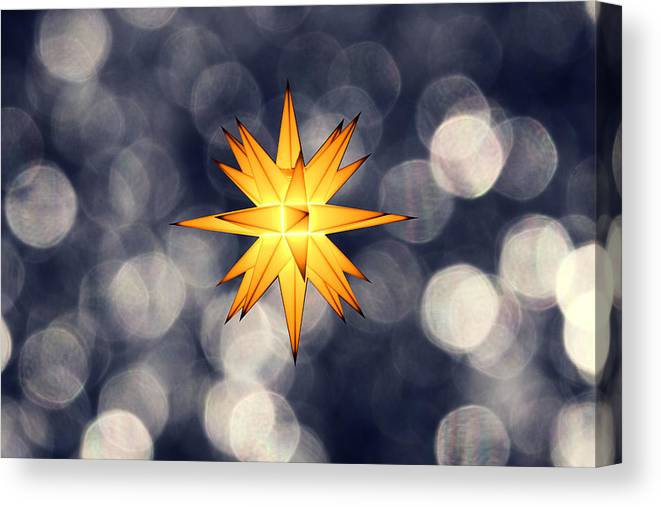 Star Of Bethlehem Canvas Print featuring the photograph Christmas Atmosphere by Bernd Schunack