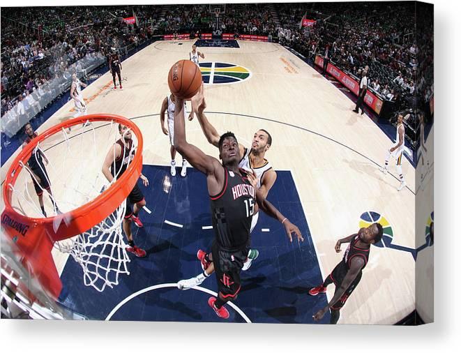 Nba Pro Basketball Canvas Print featuring the photograph Clint Capela by Melissa Majchrzak