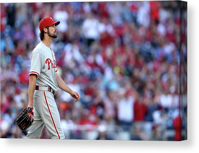 Three Quarter Length Canvas Print featuring the photograph Cole Hamels by Patrick Smith
