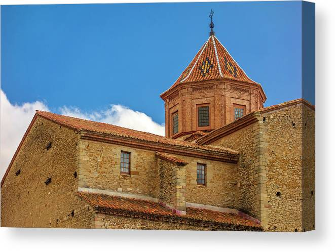 Cantavieja Canvas Print featuring the photograph Constructions In The Town Of Cantavieja, Teruel by Vicen Photography