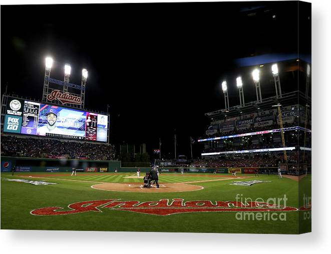 People Canvas Print featuring the photograph Corey Kluber by Elsa