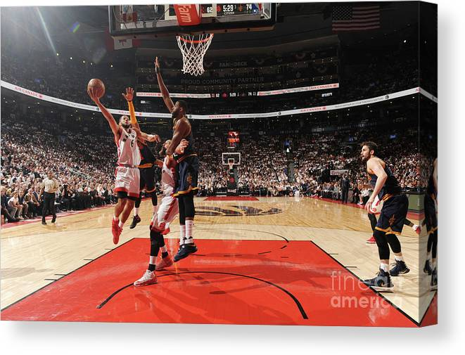 Playoffs Canvas Print featuring the photograph Cory Joseph by Ron Turenne