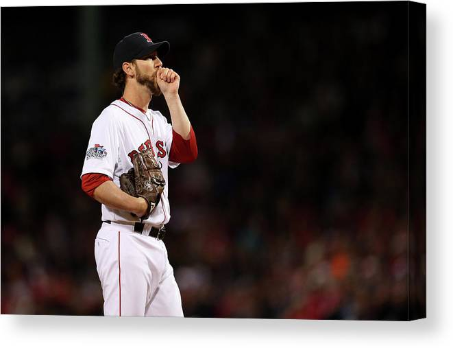 Game Two Canvas Print featuring the photograph Craig Breslow by Rob Carr