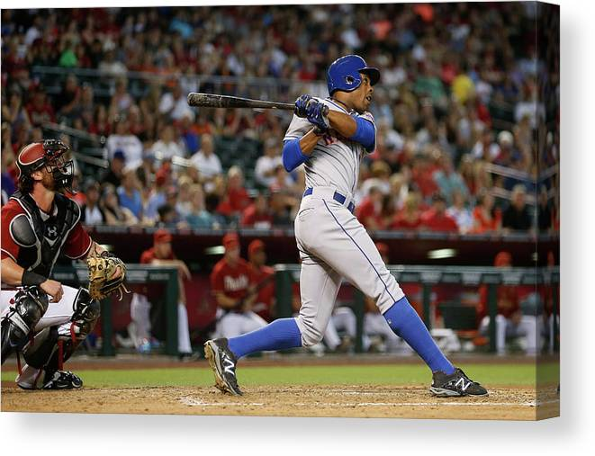 People Canvas Print featuring the photograph Curtis Granderson by Christian Petersen