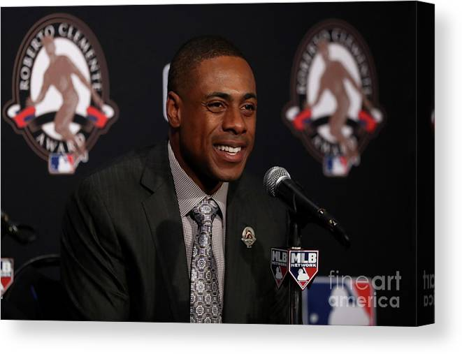 People Canvas Print featuring the photograph Curtis Granderson by Elsa
