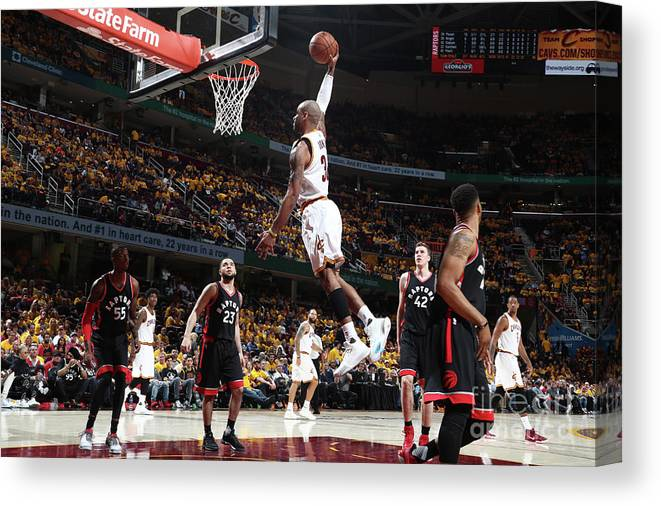Playoffs Canvas Print featuring the photograph Dahntay Jones by Nathaniel S. Butler