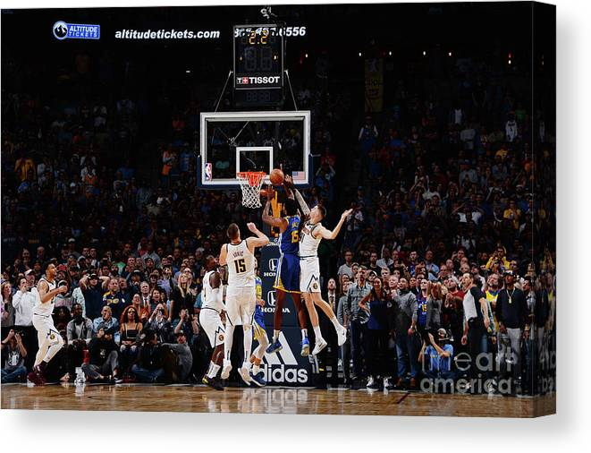 Nba Pro Basketball Canvas Print featuring the photograph Damian Jones by Bart Young
