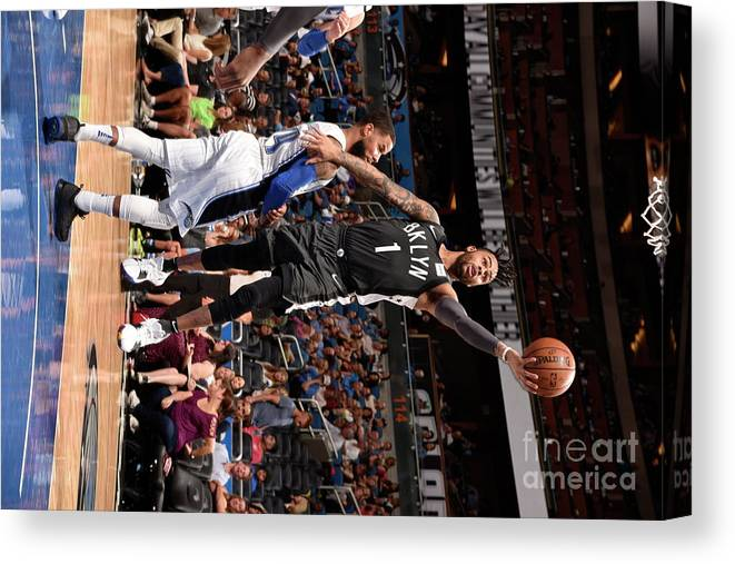 Nba Pro Basketball Canvas Print featuring the photograph D'angelo Russell by Gary Bassing