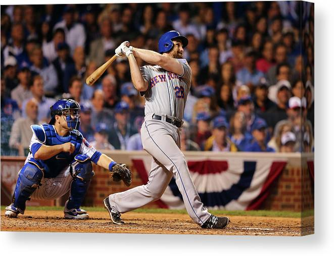 People Canvas Print featuring the photograph Daniel Murphy and Fernando Rodney by Elsa