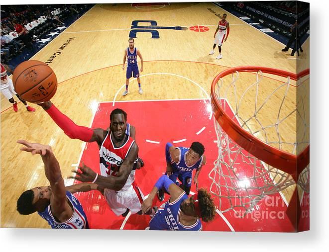 Nba Pro Basketball Canvas Print featuring the photograph Daniel Ochefu by Ned Dishman
