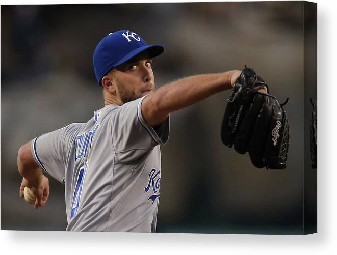Second Inning Canvas Print featuring the photograph Danny Duffy by Jeff Gross