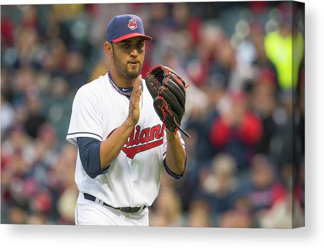 American League Baseball Canvas Print featuring the photograph Danny Salazar by Jason Miller