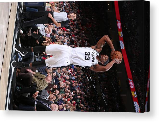 Nba Pro Basketball Canvas Print featuring the photograph Dante Cunningham by Sam Forencich