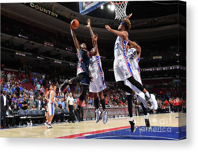 Nba Pro Basketball Canvas Print featuring the photograph Danuel House by Jesse D. Garrabrant