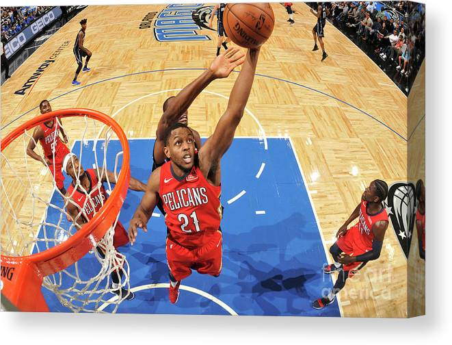 Nba Pro Basketball Canvas Print featuring the photograph Darius Miller by Fernando Medina
