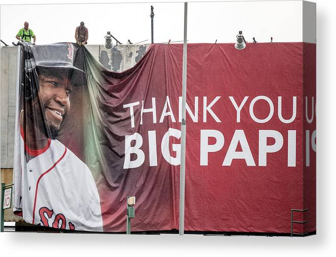 American League Baseball Canvas Print featuring the photograph David Ortiz by Billie Weiss/boston Red Sox