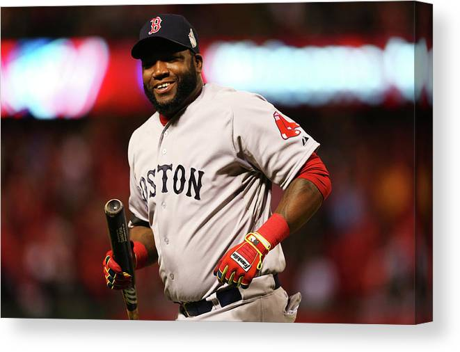 American League Baseball Canvas Print featuring the photograph David Ortiz by Ronald Martinez