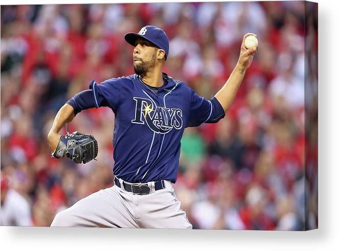 Great American Ball Park Canvas Print featuring the photograph David Price by Andy Lyons