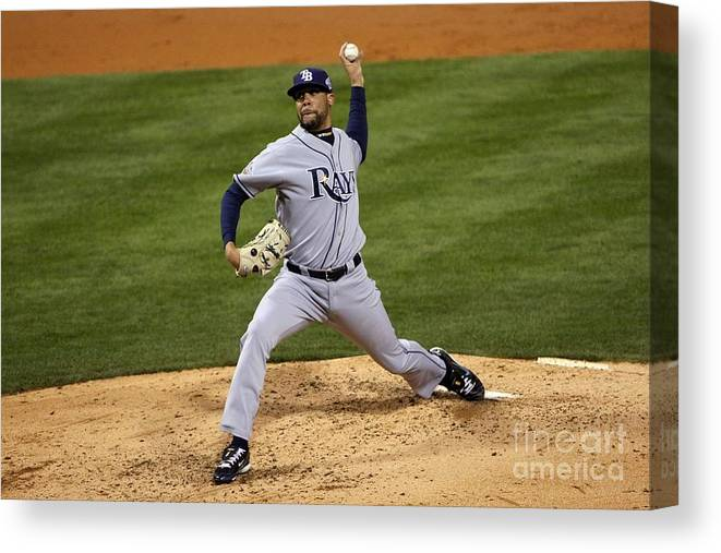 David Price Canvas Print featuring the photograph David Price by Elsa