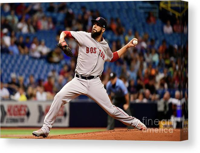 David Price Canvas Print featuring the photograph David Price by Julio Aguilar