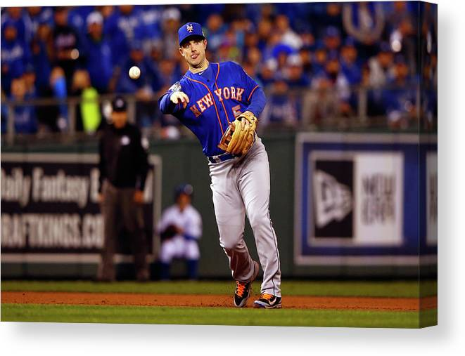 Second Inning Canvas Print featuring the photograph David Wright by Jamie Squire