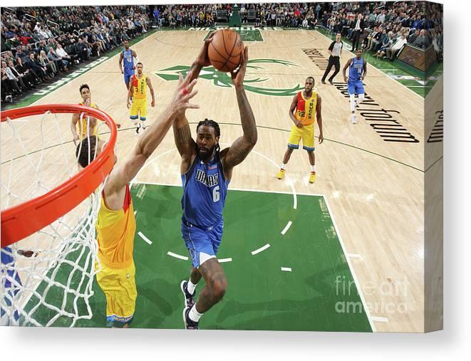 Nba Pro Basketball Canvas Print featuring the photograph Deandre Jordan by Gary Dineen